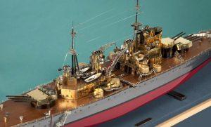 brass-ship-model